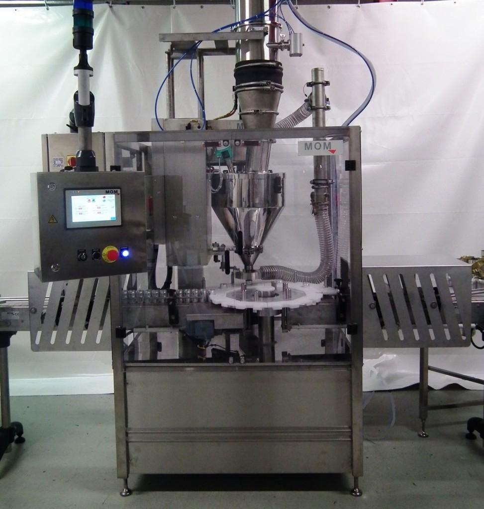 Powder fillinf machine - Machine de dosage poudre - Doseuse Pondérale à plateau indexé