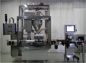 High speed filling machine for dry products designed and manufactured by MOM Packaging