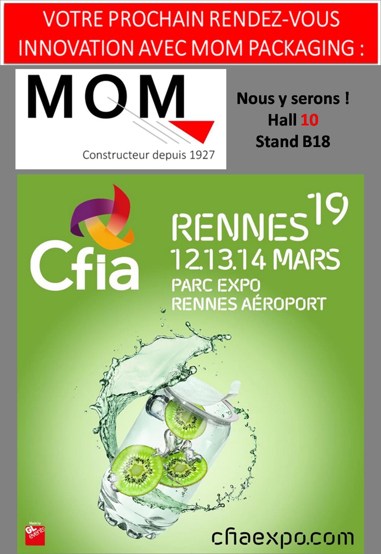 Visitez notre stand (Hall 10 B18) pour découvrir toute notre gamme de machines de remplissages au CFIA Rennes 2019
