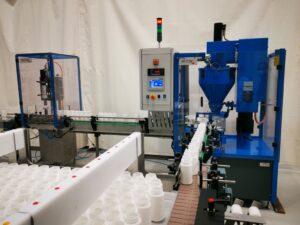 Ligne de remplissage de produits chlorés secs - MOM Packaging